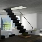 Escalier Design Vue 3D de l'avant projet