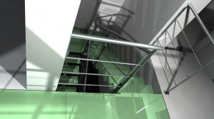Escalier VDV en cours de réalisation