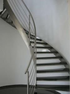Escalier VDV design  inox et marbre